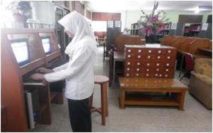 Ruang Perpustakaan terpadu  dengan online sistem